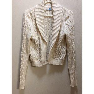 ANTHROPOLOGIE Sparrow Shaw neck cardigan sweater